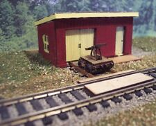 Osborn Model Kits N Scale #3108 Maintenance Shed with Hand Car Wood Kit New!