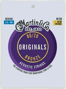 3 x Sets of Martin Guitar Strings M150 80/20 Bronze Acoustic 13-56 Medium