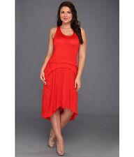 DKNY Jeans Plus Size High Low Tank Dress Cherry NWT Sz 22W-24W MSRP: $89.50
