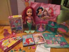 Disney Princess Ariel Royal Party Palace MagiClip Playset/doll/puzzles/DVD/games