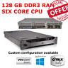 Dell PowerEdge R710 2x X5675 3.06GHz Six core 128GB RAM 6 x 300GB 10K HDD H700