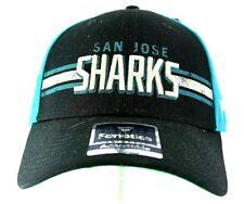 San Jose Sharks Black/Teal Baseball Cap Snapback