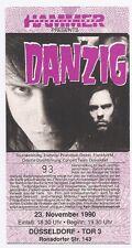 Danzig     In Concert 1990    Ticket / Konzertkarte / Eintrittskarte