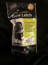 Lokk Latch D and D Black Key-Lockable Gate Latch