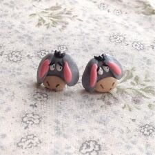 Eeyore earrings Handmade Cute Donkey Punk Goth Emo Mothers Day Easter valentine