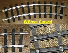BACHMANN - LOT OF 4 STEEL ALLOY CURVED TRACK - G TRAIN - NICE!