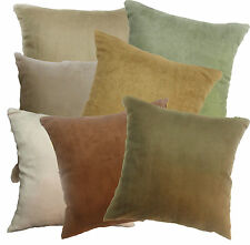 Mg+7 Soft Faux Leather Micro Suede Solid Color Cushion/Pillow Cover Custom Size