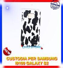 Custodia+Pellicola BACK COVER PEZZATA BIANCO NERO per Samsung I9100 s2 I9105