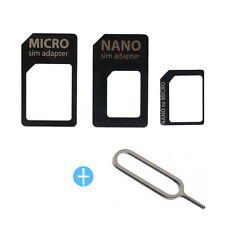 Nano SIM Card to Micro Standard Adapter Converter Set For iPhone 6 Plus 5 5S 4S