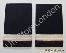 Epaulette,1 x 1/2 Silver with1x1/4inch Maroon engineer R1099