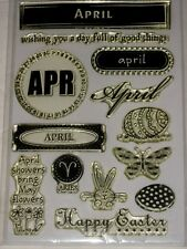 """CLEAR DESIGNS BY HERO ARTS THE MONTH OF """"APRIL"""" SHOWERS, EASTER FOR CARDS"""