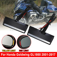 Motorcycle 2X Turn Signal Side Mirror Light Case For Honda Goldwing GL1800