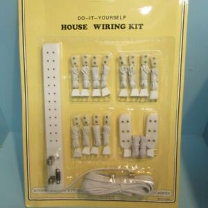 Dollhouse Miniature 12v Complete Wiring System Power Strip & Extensions MH657