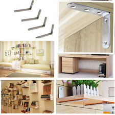 2*Stainless Steel Folding Shelf Bench Bracket Wall Hanging Support with Screws
