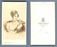 reine Hortense d'après dessin  Vintage albumen  Carte de Visite, CDV,  Ti