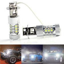 2X 80W 12V 24V CREE LED Bright White Fog Tail Break Turn DRL Car Light H3 Bulb
