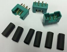 85213 Multiplex RC accessoires Plaqué Or M6 Haut Courant Fiches (3Pcs) MPX