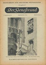 Der Stenofreund 10 54 1954 Zeitschrift Deutsche Stenografie DDR Leipzig Steno