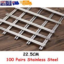 100 Pair Stainless Steel Chopsticks Korean Style Durable Gift  Deluxe Kit 22.5CM