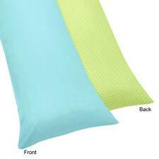 Sweet Jojo Turquoise Lime Hooty Owl Pillow Case Maternity Pregnancy Body Cover