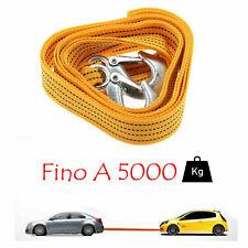 Cinghia Cavo Da Traino Sos Auto Super Resistente Fune Corda 2 Ganci 5000kg linq