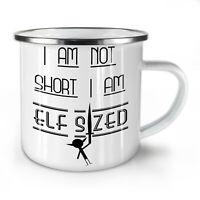 Short Sized People NEW Enamel Tea Mug 10 oz | Wellcoda