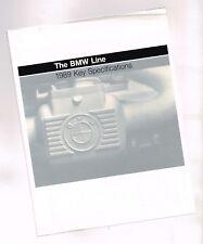 1989 BMW Key SPECIFICATIONS Brochure: 750iL,735iL,M6,635CSi,535i,525i,M3,325iX,