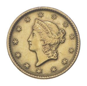 1849 $1 Liberty Head Gold Dollar - Charles Coin Collection *529