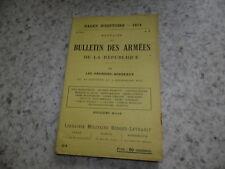 1914.Pages d'Histoire 24.Bulletin des armées.guerre 14-18..