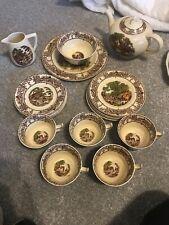 Rural Scenes Royal Staffordshire Pottery AJ. Wilkinson Ltd Tea Set