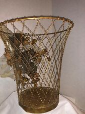 Hand Made Wire French Style Trash can Wastebasket Household Supplies Home Garden