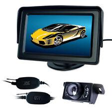 "WIRELESS CAR REAR VIEW KIT 4.3"" TFT LCD MONITOR + IR 6LED REVERSING CAMERA"