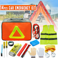 Roadside Assistance Emergency Kit Auto Car Tool Vehicle Safety with Carrying Bag