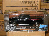 "1:18 Ertl #32389 "" AMERICAN MUSCLE "" FORD F150 HARLEY DAVIDSON edt. (nero)"