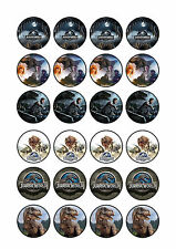 24 x Jurassic World Cup Cake Toppers ICING