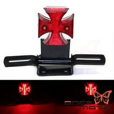 Universal Motorcycle LED Cross Brake Taillight For Harley Old School Choppers