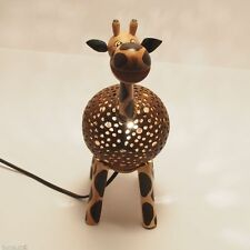 Kunstvolle Giraffe Lampe aus Echtem Kokosnuss