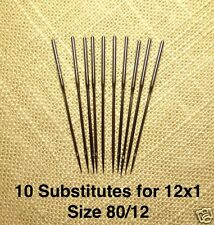 Needles Size 80 Substitute for 12x1 Singer 12 & most Transverse Shuttle Machines