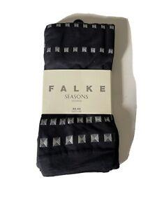 Falke Seasons Black Embroidered Leggings Size M 40-42 NEW