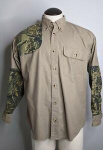 Cabela's Men's M Hunting Shooting Button Down Shirt Camo Seclusion 3D 942857