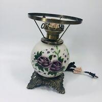 "Vintage Floral Design 10"" Hurricane Lamp LAMPSHADE - no upper shade (SHLF)"
