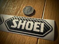 2x Shoei CARBON FIBRE effect Motorcycle Helmet Sticker Decal Graphic