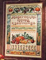 ✔️ Harvest Sampler Autumn Pumpkin Corn Cross Stitch Chart Pattern Marie Barber