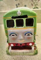 Vintage Schmid Percy Thomas The Train Porcelain Music Box