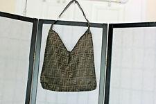 FENDI VINTAGE  BROWN ZUCCA 71-15980-001 SHOULDER BAG VERY RARE