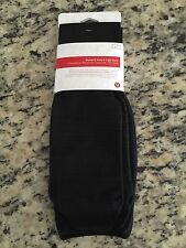NWT Lululemon Keep It Tight Sock tight solid black white S/M 5-7