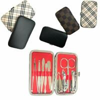 10pc Nail Care Kit Manicure Pedicure Clippers Cuticle Grooming Gift Travel Case