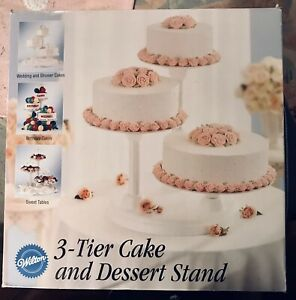 Wilton 3 Tier Cake And Dessert Stand Excellent Condition All Parts Included