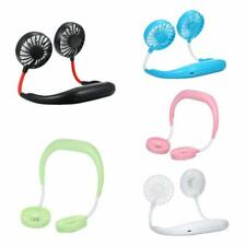 Portable USB Fan Portable USB Rechargeable Neckband Lazy Neck Hanging Style