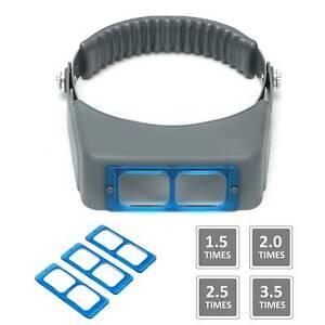 Headband Magnifier Head Magnifier Hands Free Magnifying Glass Optivisor 4 Lense